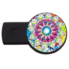 Sunshine Feeling Mandala Usb Flash Drive Round (4 Gb)