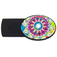 Sunshine Feeling Mandala Usb Flash Drive Oval (4 Gb)