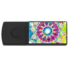 Sunshine Feeling Mandala Rectangular Usb Flash Drive