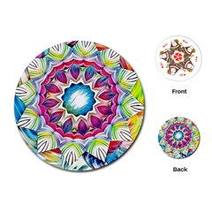 Sunshine Feeling Mandala Playing Cards (round)