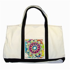 Sunshine Feeling Mandala Two Tone Tote Bag