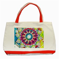 Sunshine Feeling Mandala Classic Tote Bag (red)