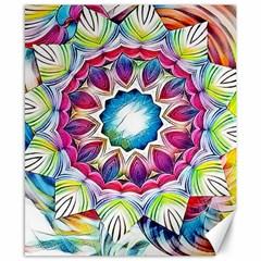 Sunshine Feeling Mandala Canvas 8  X 10