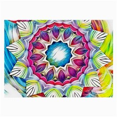 Sunshine Feeling Mandala Large Glasses Cloth