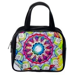 Sunshine Feeling Mandala Classic Handbags (one Side)