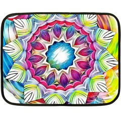 Sunshine Feeling Mandala Double Sided Fleece Blanket (mini)