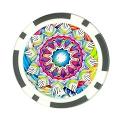 Sunshine Feeling Mandala Poker Chip Card Guard (10 Pack)