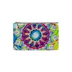 Sunshine Feeling Mandala Cosmetic Bag (small)