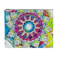 Sunshine Feeling Mandala Cosmetic Bag (xl)