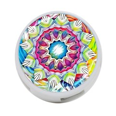 Sunshine Feeling Mandala 4 Port Usb Hub (two Sides)