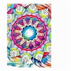Sunshine Feeling Mandala Small Garden Flag (two Sides)
