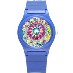 Sunshine Feeling Mandala Round Plastic Sport Watch (s)