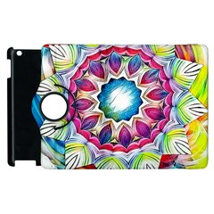 Sunshine Feeling Mandala Apple Ipad 3/4 Flip 360 Case