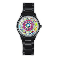 Sunshine Feeling Mandala Stainless Steel Round Watch