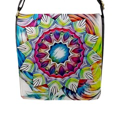 Sunshine Feeling Mandala Flap Messenger Bag (l)