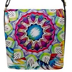 Sunshine Feeling Mandala Flap Messenger Bag (s)
