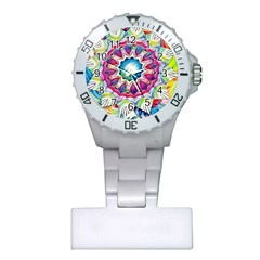 Sunshine Feeling Mandala Plastic Nurses Watch