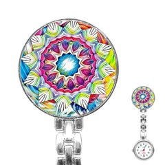 Sunshine Feeling Mandala Stainless Steel Nurses Watch