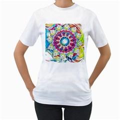 Sunshine Feeling Mandala Women s T Shirt (white)
