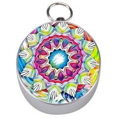 Sunshine Feeling Mandala Silver Compasses