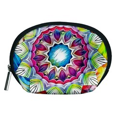 Sunshine Feeling Mandala Accessory Pouches (medium)