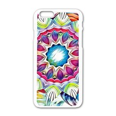 Sunshine Feeling Mandala Apple Iphone 6/6s White Enamel Case