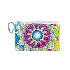 Sunshine Feeling Mandala Canvas Cosmetic Bag (s)