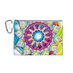 Sunshine Feeling Mandala Canvas Cosmetic Bag (m)