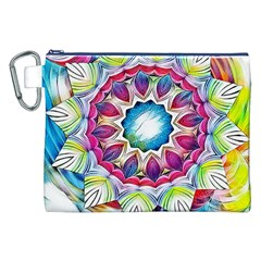 Sunshine Feeling Mandala Canvas Cosmetic Bag (xxl)