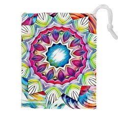 Sunshine Feeling Mandala Drawstring Pouches (xxl)