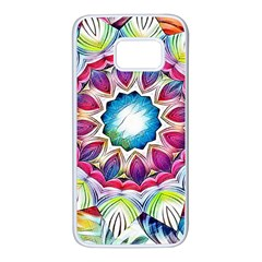 Sunshine Feeling Mandala Samsung Galaxy S7 White Seamless Case