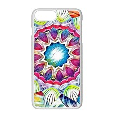 Sunshine Feeling Mandala Apple Iphone 7 Plus White Seamless Case