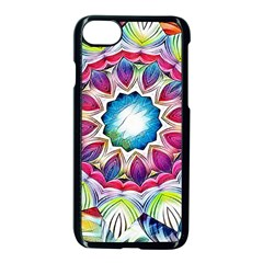 Sunshine Feeling Mandala Apple Iphone 7 Seamless Case (black)
