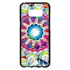 Sunshine Feeling Mandala Samsung Galaxy S8 Plus Black Seamless Case