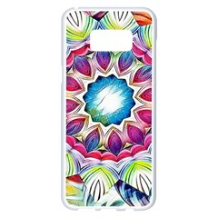 Sunshine Feeling Mandala Samsung Galaxy S8 Plus White Seamless Case