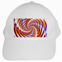 Woven Colorful Waves White Cap