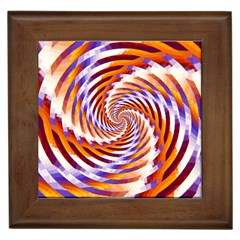 Woven Colorful Waves Framed Tiles