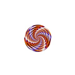 Woven Colorful Waves 1  Mini Buttons