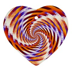 Woven Colorful Waves Ornament (heart)