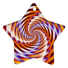 Woven Colorful Waves Ornament (star)