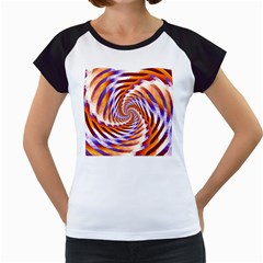 Woven Colorful Waves Women s Cap Sleeve T