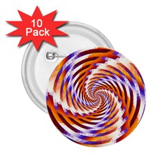 Woven Colorful Waves 2 25  Buttons (10 Pack)
