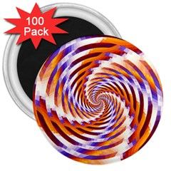 Woven Colorful Waves 3  Magnets (100 Pack)