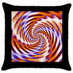 Woven Colorful Waves Throw Pillow Case (black)