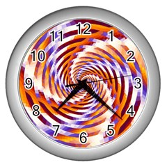 Woven Colorful Waves Wall Clocks (silver)