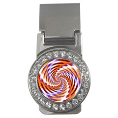 Woven Colorful Waves Money Clips (cz)