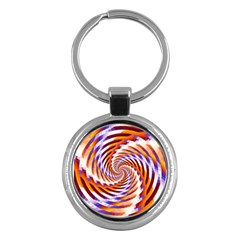 Woven Colorful Waves Key Chains (round)