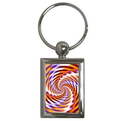 Woven Colorful Waves Key Chains (rectangle)