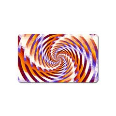 Woven Colorful Waves Magnet (name Card)