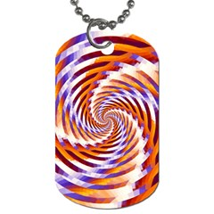 Woven Colorful Waves Dog Tag (two Sides)